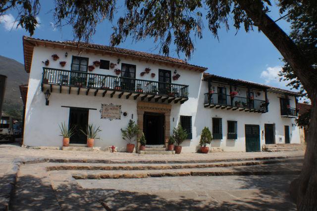 Rondreis Colombia Ricaurte Villa de Leyva Posada de San Antonio vooraanzicht