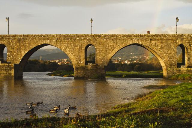 Ponte Romano Ponte de Lima Noord-Portugal