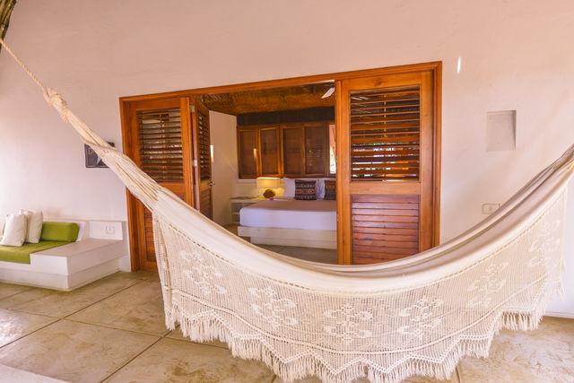 Rondreis Colombia Bolivar Islas Rosario San Pedro de Majagua met een junior suite met terras
