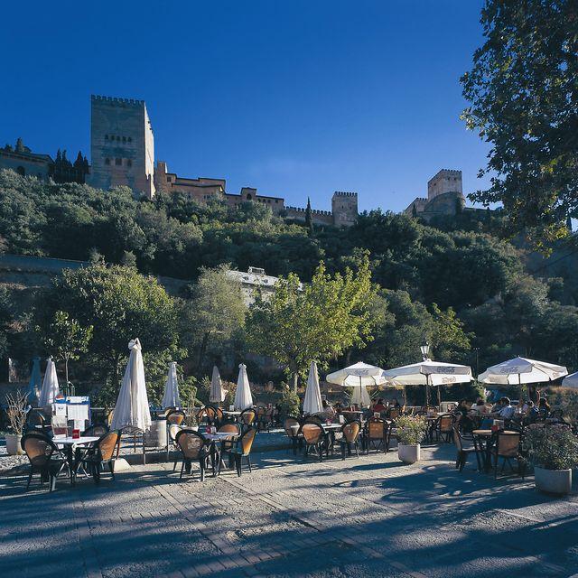 Andalusië Granada terras Spanje