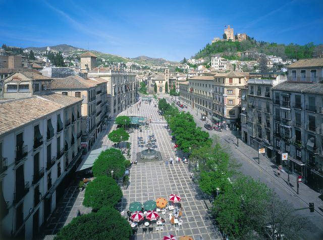 Andalusië Granada stad promenade