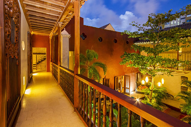 Rondreis Colombia Bolivar Cartagena Ananda boutique de buitenring naar de kamers