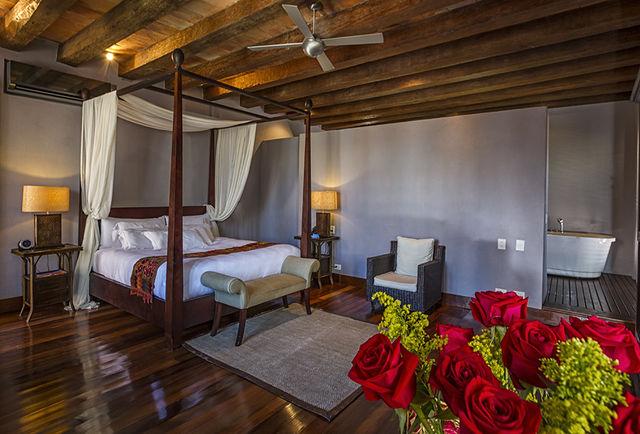 Rondreis Colombia Bolivar Cartagena Ananda boutique voorbeeld slaapkamer