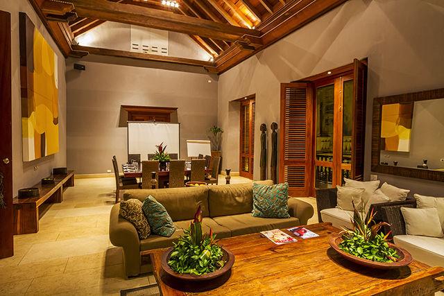 Rondreis Colombia Bolivar Cartagena Ananda boutique de lobby van het hotel