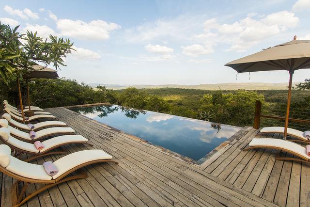 Zuid-Afrika Rhino Ridge Safari Lodge Hluhluwe Game Reserve zwembad