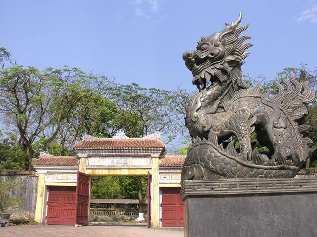 Drakenbeeld Hue Vietnam