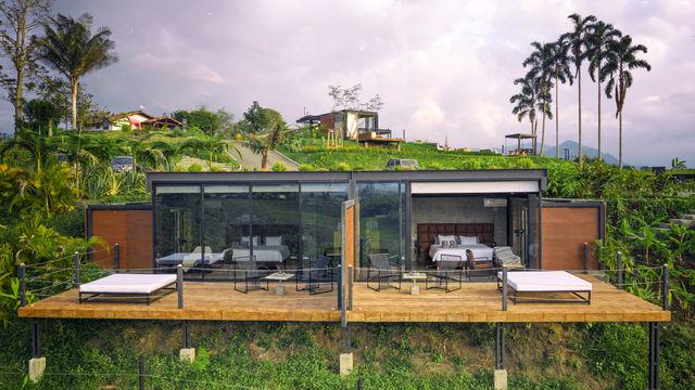 Rondreis Colombia Quindio/Armenia/Bio Habitat slaapkamers met optimale privacy