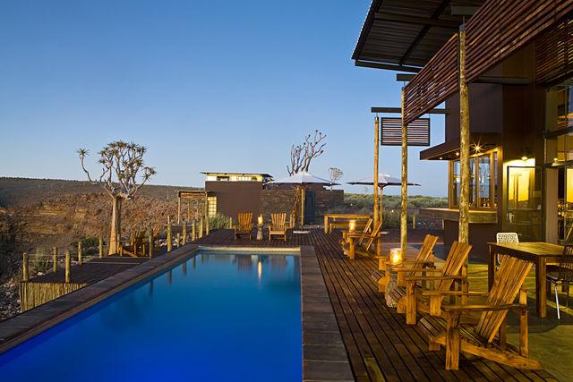 Rondreis Namibie Fish River Lodge zwembad