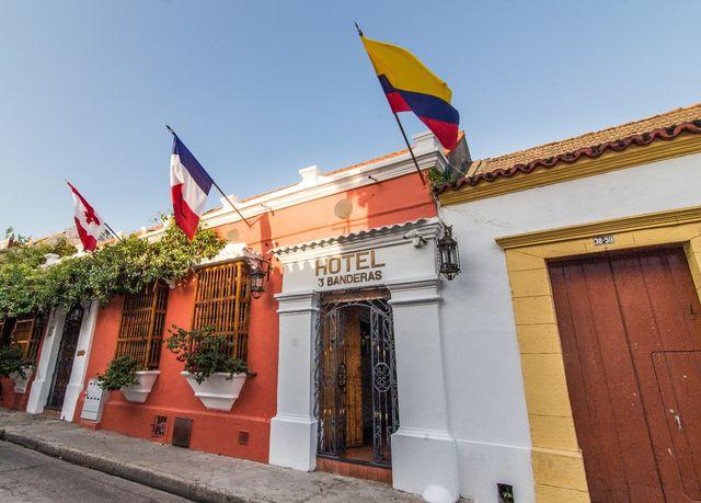 Rondreis Colombia Bolivar Cartagena 3 Banderas entree hotel