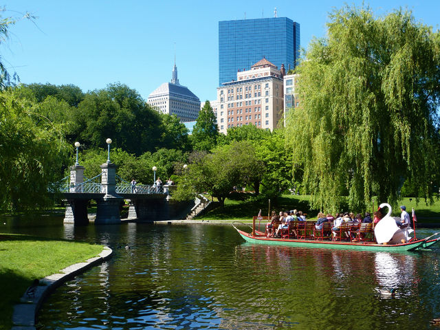Zwanenboten park Public Garden Boston Massachussets