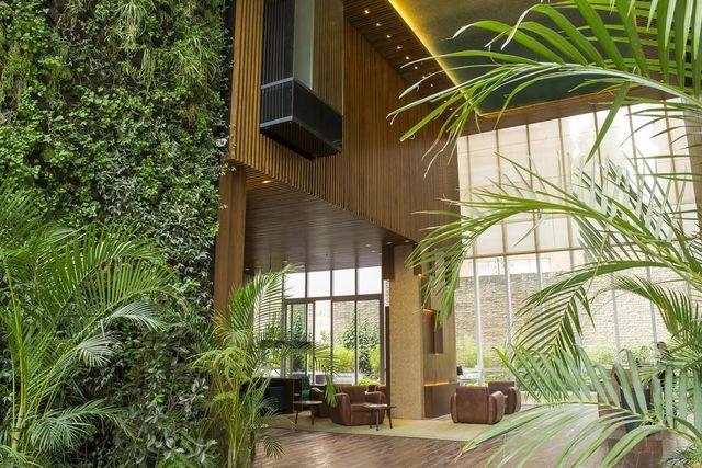 Rondreis Colombia Cundinamarca Bogota Bioxury hotel lobby