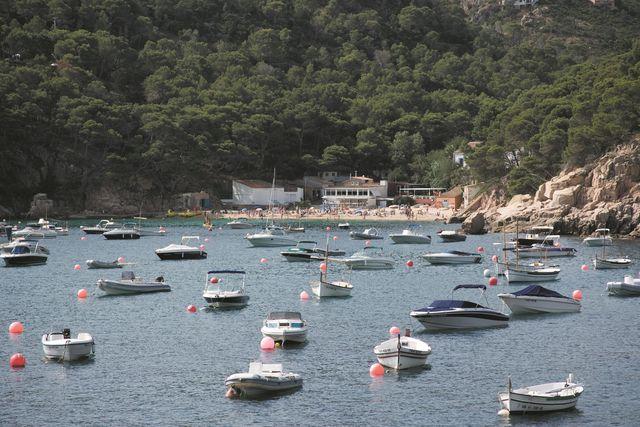 Begur Strand Boten Aiguablave Spanje