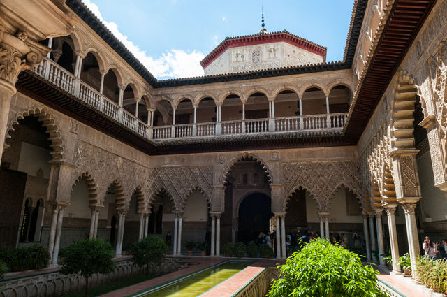 Sevilla Andalusië paleis real alcazar