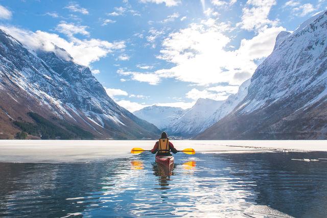 Kayakken Ålesund Sunnmøre Noorwegen