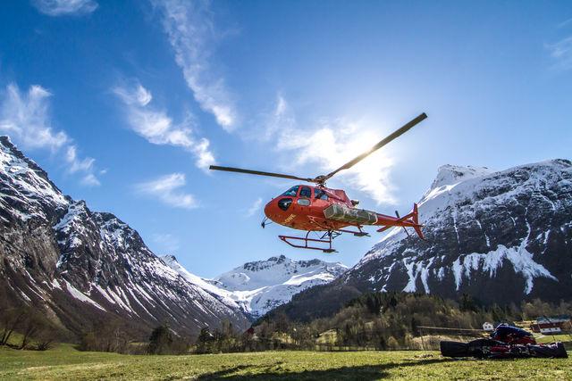 Helikopter Ålesund Sunnmøre Noorwegen