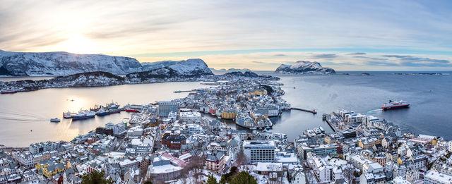 Uitzicht Ålesund Sunnmøre Noorwegen
