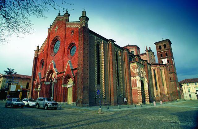 Italië Piemonte Asti kathedraal
