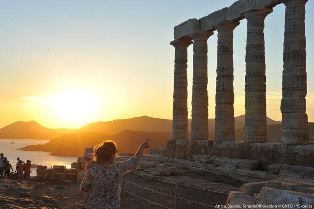 Tempel van Poseidon Athene Griekenland