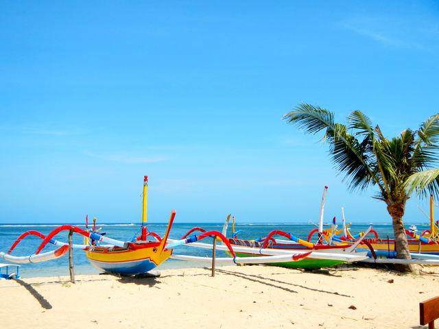 Bali Jukung boot strand Indonesië