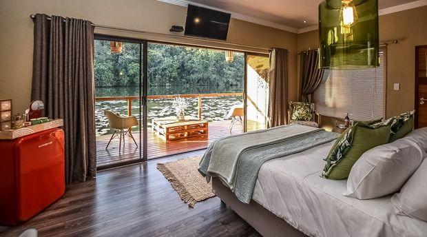 rondreis Zuid-Afrika Bambuu Lakeside lodge suite