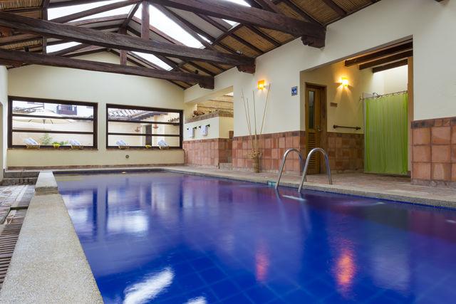 Rondreis Colombia Ricaurte Villa de Leyva Getsemani met het binnen zwembad