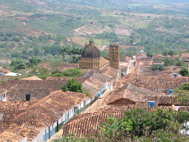 Rondreis Colombia Santander Barichara uitzicht over de daken
