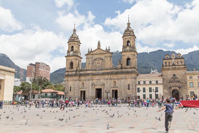 Rondreis Colombia Bogota Plaza Bolivar, het centrum van de stad