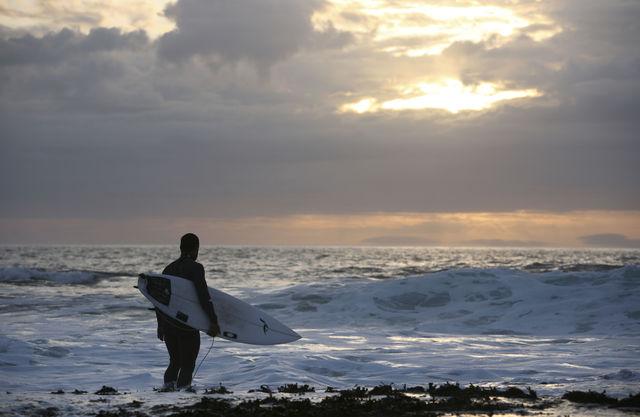 Kust Surfen Broadford Schotland