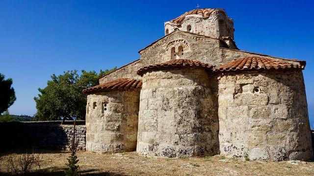 Byzantijnse kerk Peloponnesos Griekenland