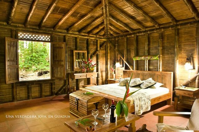 Rondreis Colombia Risaralda Filandia Bosques del Saman Alcala cabana met 2 slaapkamers