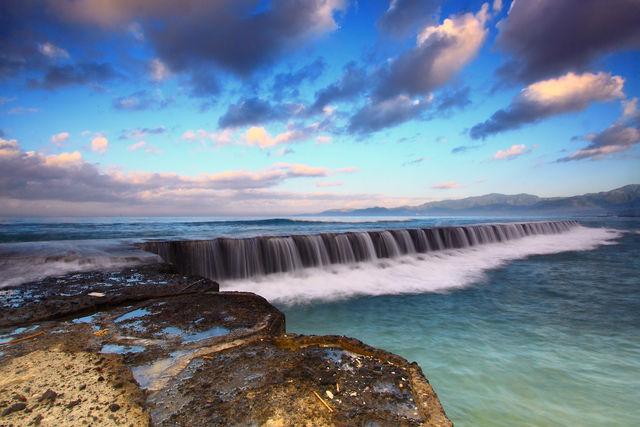 Candidasa watervallen Bali Indonesië