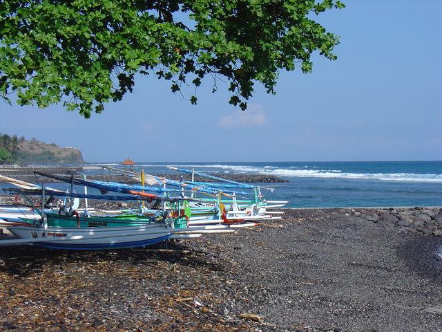 Candidasa visboten strand Bali Indonesië