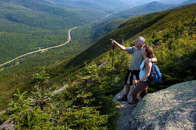 Wandelen gebergte Cannon Mountain New Hampshire