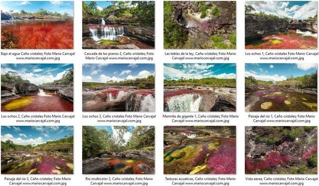 Rondreis Colombia Meta La Macarena Cano Cristales ansichtskaart