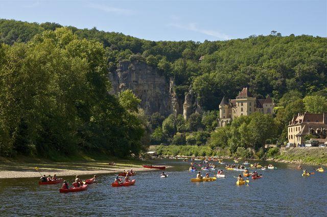 Kano rivier Roque Gageac Frankrijk