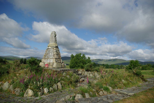 Carsphairn oorlogsmonument Schotland