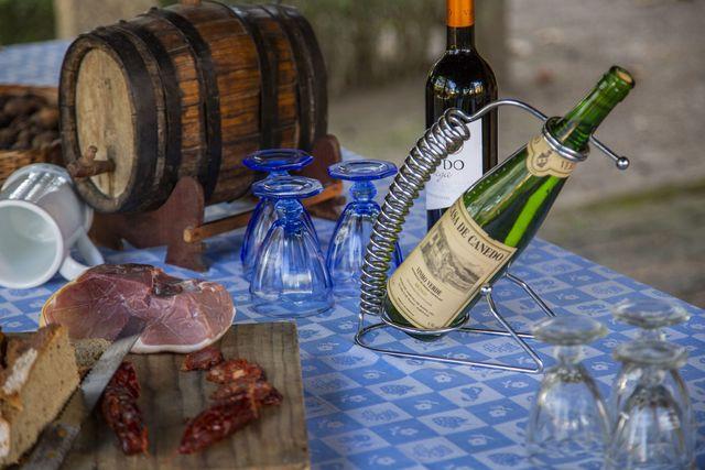 Wijn en ham
