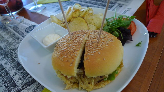 Burger eten Portugal