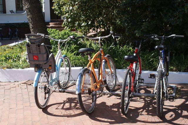 Hermanus hotel Whale Rock Lodge fietsen