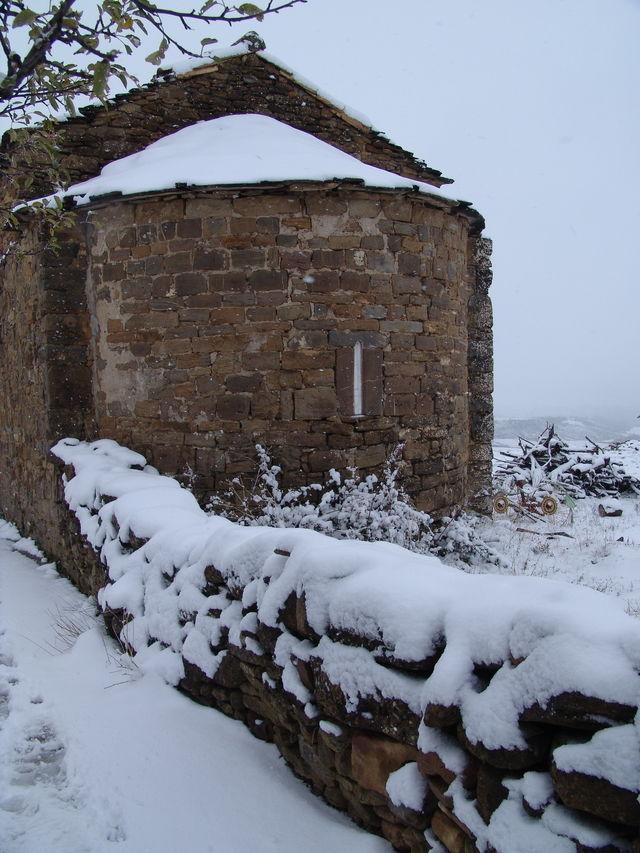 Barosse Baros Huesca sneeuw
