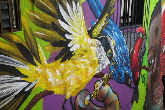 Rondreis Colombia Medellin voorbeeld graffiti kunst