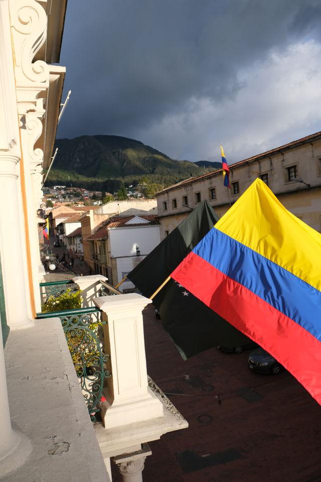 Rondreis Colombia Bogota Hotel de la Opera, uitzicht vanaf de kamer