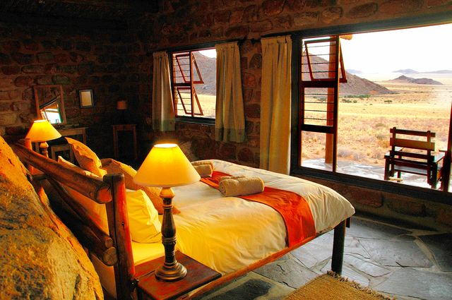 Rondreis Namibie Klein Aus slaapkamer chalet