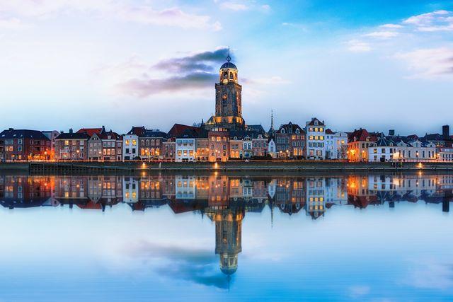 Stadsgezicht Deventer Overijssel Nederland