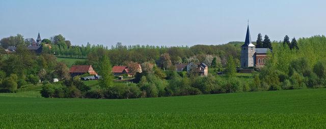 Dorp in het Haspengouw België