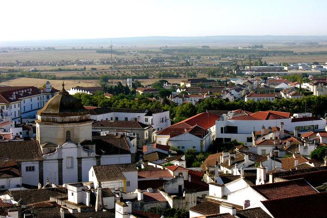 Evora stad Portugal