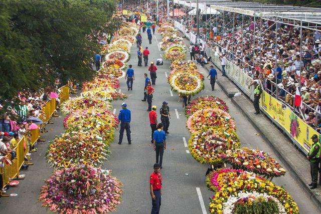 Rondreis Colombia Medellin overzicht bloemencorso