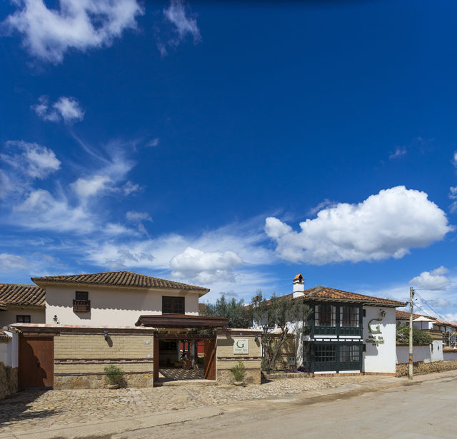 Rondreis Colombia Ricaurte Villa de Leyva Getsemani de voorgevel