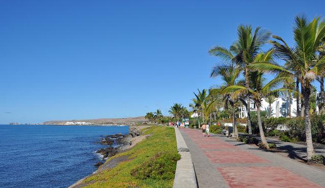 Kust promenade Canarische Eilanden La Palma