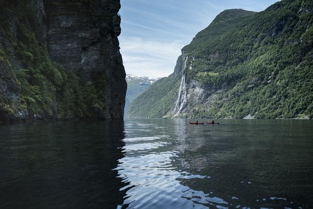 Kayakken Geiranger Sunnmøre Noorwegen
